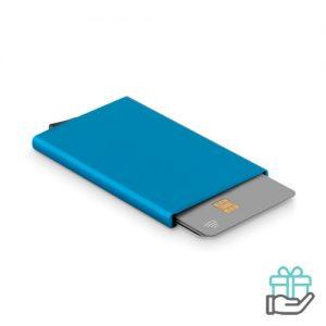 RFID creditkaarthouder blauw bedrukken