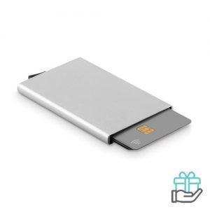 RFID creditkaarthouder mat zilver bedrukken