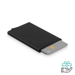 RFID creditkaarthouder zwart bedrukken