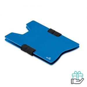 RFID kaarthouder alu koninklijk blauw bedrukken