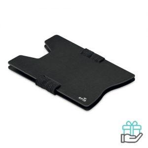 RFID kaarthouder alu zwart bedrukken