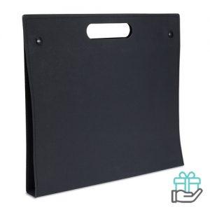 Schrijfmap karton zwart bedrukken