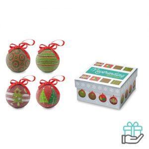 Set kerstballen multikleur bedrukken