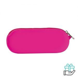 Siliconen etui roze bedrukken