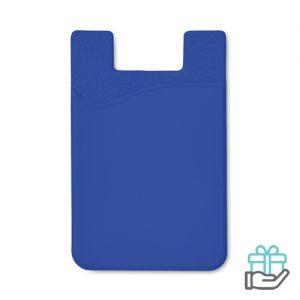Siliconen kaarthouder tape koninklijk blauw bedrukken
