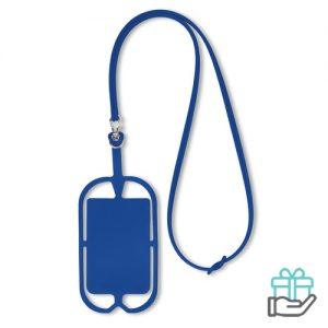 Siliconen telefoonhouder koninklijk blauw bedrukken