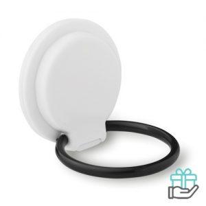 Smartphone standaard ring wit bedrukken