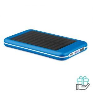 Solar PowerBank 4000mAh alu koninklijk blauw bedrukken