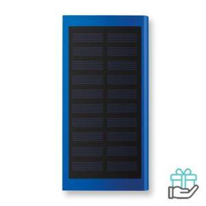 Solar PowerBank 8000mAh koninklijk blauw bedrukken