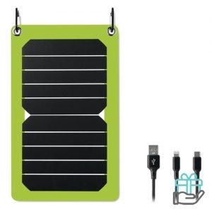 Solar oplader 5.3w output limegroen bedrukken