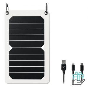 Solar oplader 5.3w output wit bedrukken