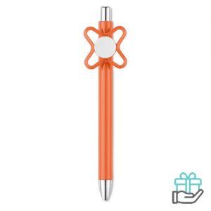 Spinner pen oranje bedrukken