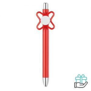 Spinner pen rood bedrukken