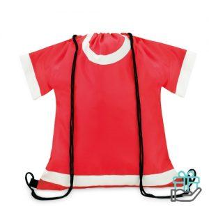 Sportevent rugzakje T-shirt model rood bedrukken