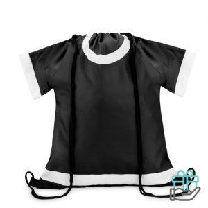 Sportevent rugzakje T-shirt model zwart bedrukken