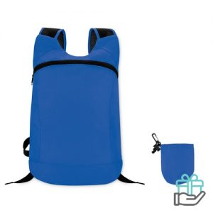 Sportrugzak jogger koninklijk blauw bedrukken