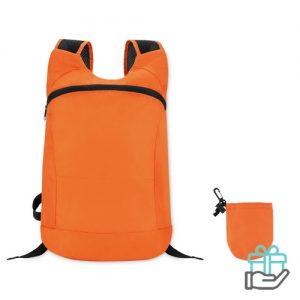 Sportrugzak jogger oranje bedrukken