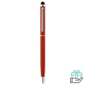Stylus pen chroom rood bedrukken