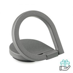 Telefoonhouder ring mat titanium bedrukken