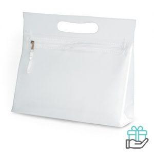 Transparante PVC toilettas transparant bedrukken