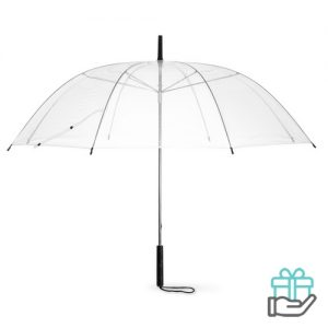 Transparnte paraplu PVC transparant bedrukken