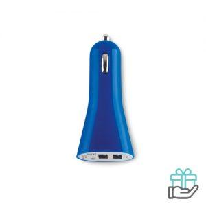 USB autolader blauw bedrukken