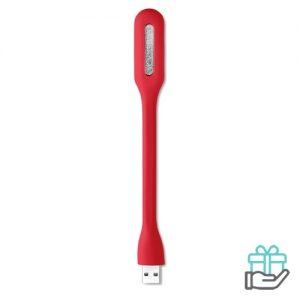 USB lampje PVC rood bedrukken