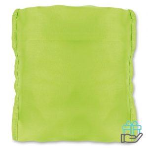 Waterbestendige rugzakhoes neon groen bedrukken