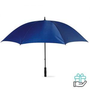 Windbestendige golfparaplu blauw bedrukken