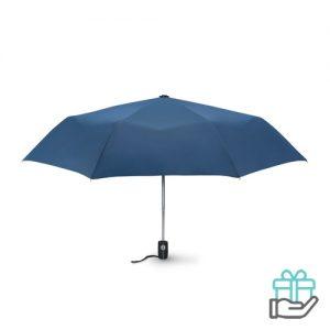 Windbestendige paraplu 21 inch blauw bedrukken
