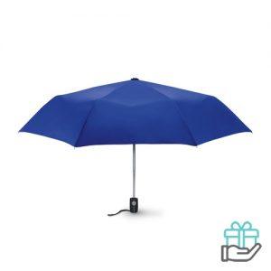 Windbestendige paraplu 21 inch koninklijk blauw bedrukken