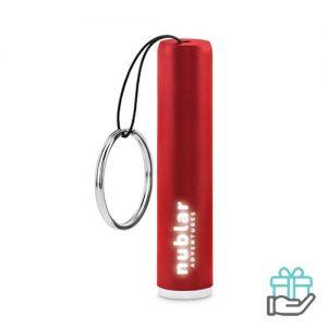 ABS kunststof zaklampje rood bedrukken