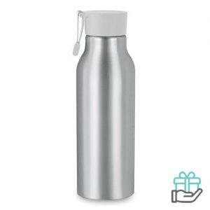 Aluminium drinkfles 500ml grijs bedrukken