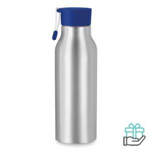 Aluminium drinkfles 500ml koninklijk blauw bedrukken