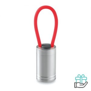 Aluminium torch glow dark rood bedrukken