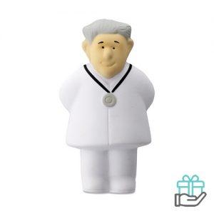 Anti-stress PU dokter wit bedrukken