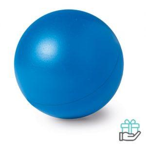 Anti-stress bal budget blauw bedrukken