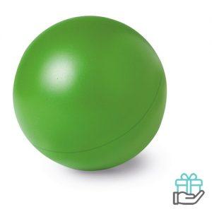 Anti-stress bal budget groen bedrukken