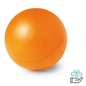 Anti-stress bal budget oranje bedrukken