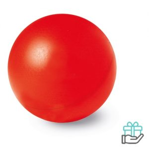 Anti-stress bal budget rood bedrukken