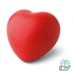 Anti-stress hart rood bedrukken