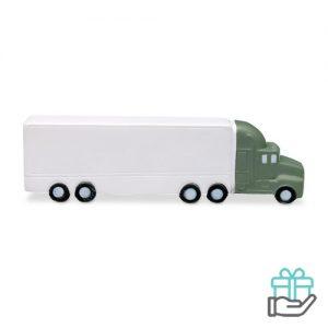 Anti-stress vrachtwagen wit bedrukken
