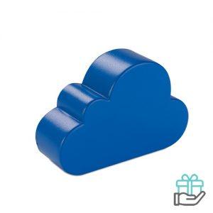 Anti-stress wolkvorm blauw bedrukken