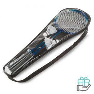 Badmintonset multikleur bedrukken