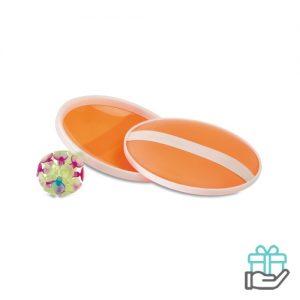 Balspelletje zuignappen oranje bedrukken