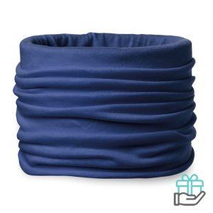 Bandana microfiber blauw bedrukken