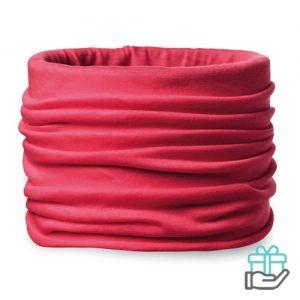 Bandana microfiber rood bedrukken