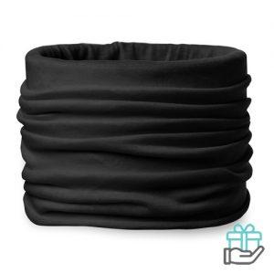 Bandana microfiber zwart bedrukken