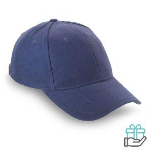 Baseball cap geborsteld katoen blauw bedrukken