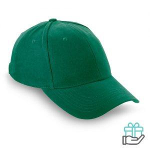 Baseball cap geborsteld katoen groen bedrukken